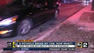 A pothole broke my car, now what? - Video