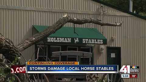 Kansas City horse stable damaged in Friday's storm
