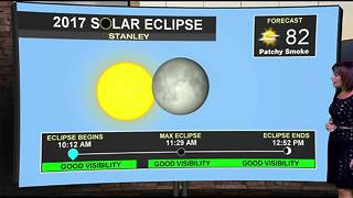 Conditions looking good for eclipse viewing today! - Video
