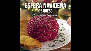 Christmas Cheese Sphere