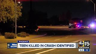 Teen killed in crash identified - Video