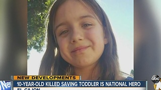 10-year-old killed saving toddler is national hero - Video