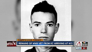 Remains of WWII vet from Kansas City arriving at KCI - pt. 2 - Video
