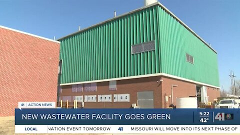 New wastewater facility goes green