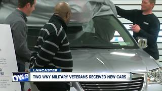 Insurance company donates new cars to military veterans - Video