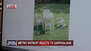 Metro Detroit reacts to earthquake - Video