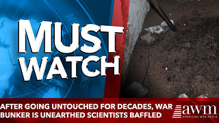 After Going Untouched For Decades, War Bunker Is Unearthed Scientists Baffled - Video