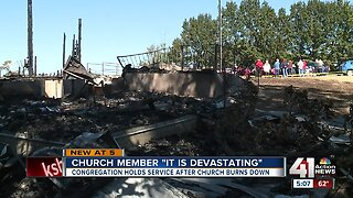 Congregation gathers, reminisces after 135-year-old church burns down