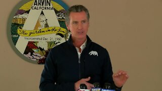 Gov. Newsom visits Kern County to discuss COVID-19 efforts in the Central Valley
