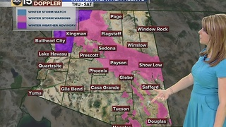 Winter weather advisory in the forecast for northern Arizona and a cooldown in the Valley