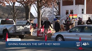 Harvesters, community organizations feed 300 families with food drive-thru