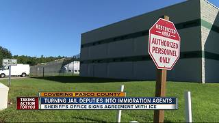 Pasco Sheriff makes agreement with ICE to enforce Federal immigration laws - Video