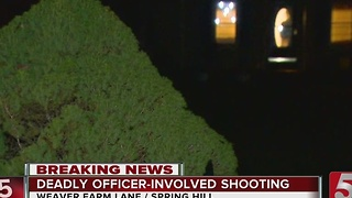 TBI Investigating Fatal Officer-Involved Shooting In Spring Hill - Video
