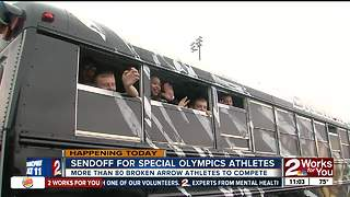 Broken Arrow athletes are off to compete in Special Olympics Oklahoma summer games - Video