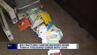 Metro Detroit child battling cancer receives more than 1,000 cards from around the world