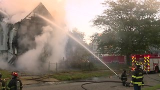RAW: Cleveland Fire battles house fire on Cleveland's East Side