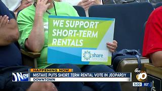 Mistake puts short-term rental vote in jeopardy - Video