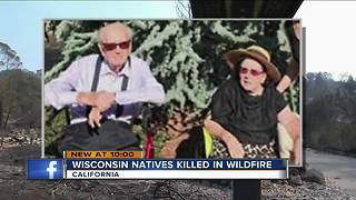 Elderly Wisconsin-natives killed in California wildfires - Video