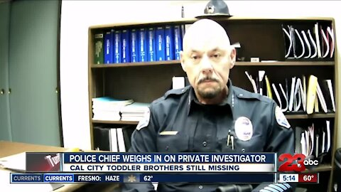 Cal City Police Chief talks about private investigator involved in missing boys case