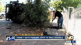 Family says parking spot inaccessible