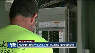 Electricians fear training requirement changes - Video
