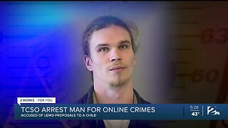 TCSO: Man Arrested for Online Crimes, Accused of Lewd Proposals to a Child