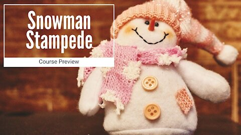 Snowman Stampede course preview - with metrics