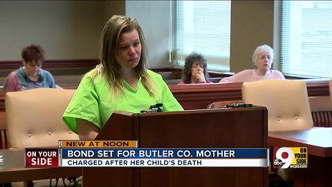 Bond set for Butler County mother charged in infant's death