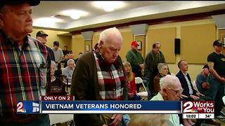 Local Vietnam veterans receive lapel pins - Video