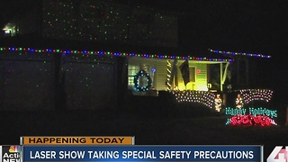 Laser show taking special safety precautions - Video
