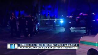 Suspect dies after shootout with St. Petersburg Police officers - Video