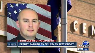 Funeral services for Douglas County Deputy Zackari Parrish set for Friday in Highlands Ranch - Video