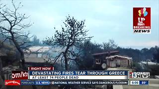 Update on wildfires in Greece - Video