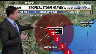 Tropical Storm Harvey could become Category 3 hurricane - Video