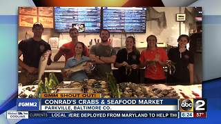 Nothing fishy about Conrad's Crabs & Seafood Market GMM shout out - Video