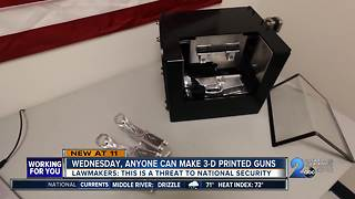 Wednesday anyone can make 3-D printed guns - Video