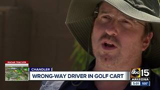 Wrong-way driver in golf cart arrested for second time