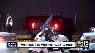 Two hurt in wrong-way crash in Phoenix - Video