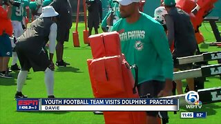 Delray Beach Rocks visit Dolphins camp 8/1