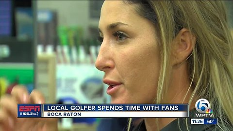 Jaye Marie Green spend time with fans in Boca Raton