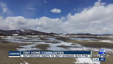 Group wants to build tiny home communities for Veterans with PTSD