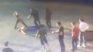 MMA Fighter Kills Power Lifter in Brutal Russian Street Fight - Video