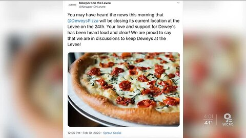 Dewey's Pizza to close Newport on the Levee location