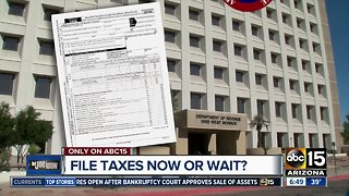 Should you file your taxes now or wait?