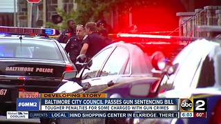 Amended handgun sentencing bill passes Baltimore City Council - Video