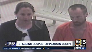 Stabbing suspect appears in court