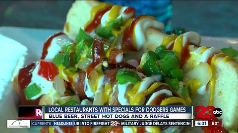 Where you can get food and drink specials for the Dodgers game tomorrow