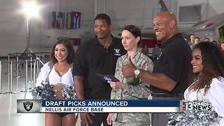 Raiders announce draft picks at Nellis Air Force Base - Video