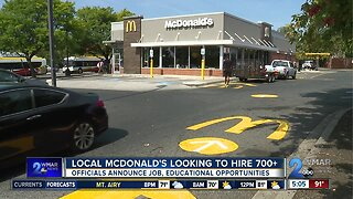 Local McDonald's looking to hire more than 700 people