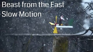 Stunning 'Beast from the East' slow motion storm footage - Video